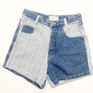 Vintage | Arizona Jeans | Shorts 7 | Blue & White